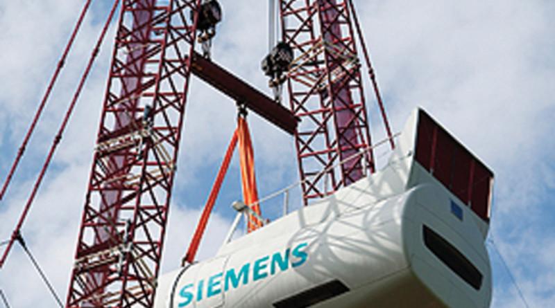 Prototyp der neuen getriebelosen 6-MW-Windturbine von Siemens ge