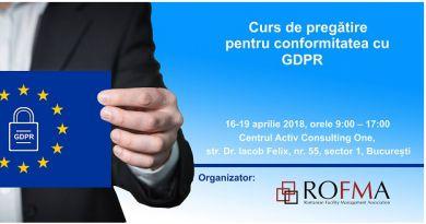 CURS DE PREGATIRE PENTRU CONFORMITATEA CU GDPR