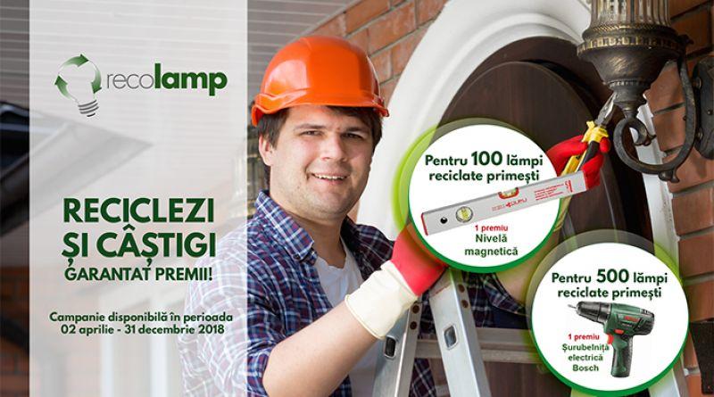 "Campanie Recolamp pentru electricieni:""Ori de cate ori se arde un bec, recicleaza-l si castigi garantat premii!"""