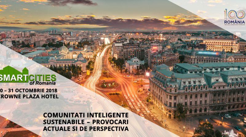 Smart Cities of Romania, 30-31 octombrie 2018, Crowne Plaza Bucuresti.