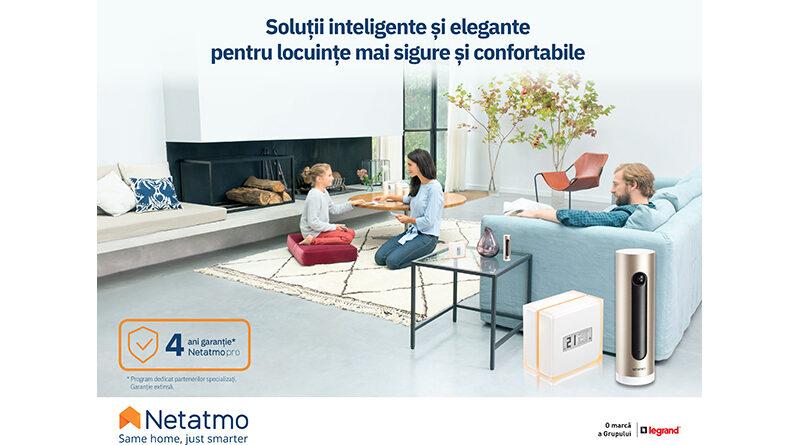 Descoperă soluțiile inteligente Netatmo Pro de SECURITATE și ENERGIE