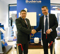 foto inaugurare showroom Buderus